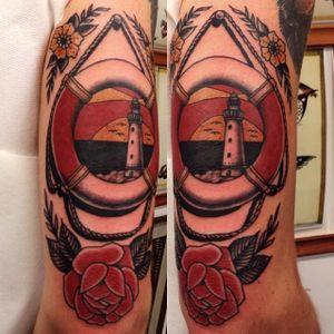 Lifebuoy Tattoo by Polaren Per #lifebuoy #nautical #maritime #traditional #PolarenPer