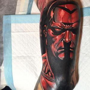 Colossus Tattoo by Benjamin Laukis #Colossus #XMen #MarvelTattoos #SuperheroTattoos #BenjaminLaukis