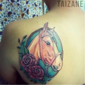 Cavalinho! #cavalo #horse #colorida #Taizane #TaizaneTatuadora #brasil #brazil #portugues #portuguese