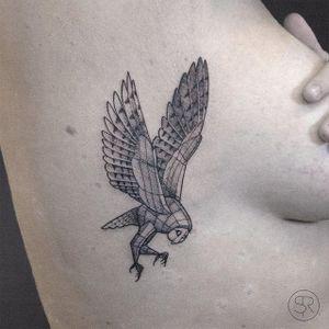 Owl In Flight by Sven Rayen (via IG-svenrayen) #geometric #blackandgrey #animal #owl #illustrative #svenrayen