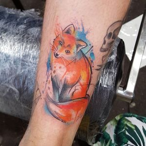 Fox Watercolor Tattoo by Josie Sexton #Watercolor #WatercolorTattoo #WatercolorTattoos #WatercolorArtists #WatercolorDesigns #WatercolorInspiration #JosieSexton