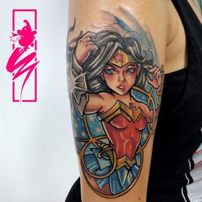 Mulher Maravilha maravilhosa #Snoo #brasil #brazil #brazilianartist #tatuadoresdobrasil #colorido #colorful #mulhermaravilha #wonderwoman #nerd #geek #dc #movie #filme #desenho #animação #cartoon #comics