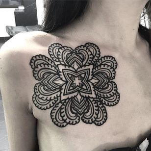 Linework Tattoo by Dave Brian Hilton #linework #pattern #geometric #blackink #blackpattern #blacklinework #DaveBrianHilton