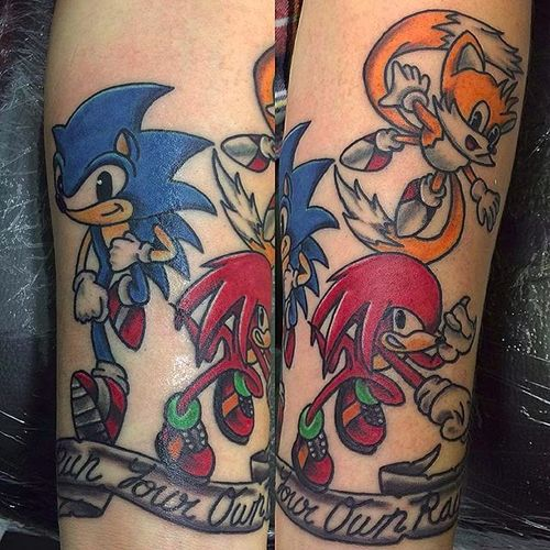 The Sonic gang by Danny (via IG -- dannytattooer) #danny #sonic #sonicthehedgehog
