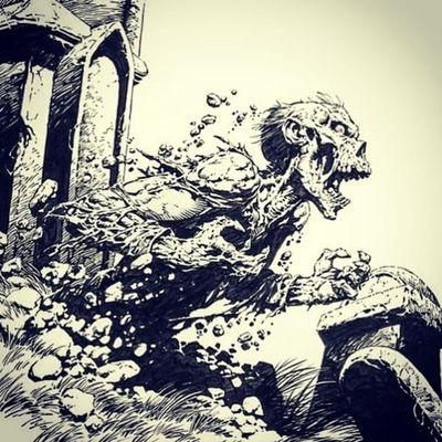 Classic Wrightson illustration #berniewrightson #zombie