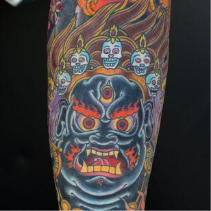 Mahakala Tattoo by Brian Paul #mahakala #mahakalatattoo #mahakalatattoos #kali #hindu #hindutattoo #deity #deitytattoo #BrianPaul