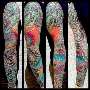 Mike Rubendall is owner of Kings Avenue Tattoo, NYC. #Japanese #Sleeve #MikeRubendall #London