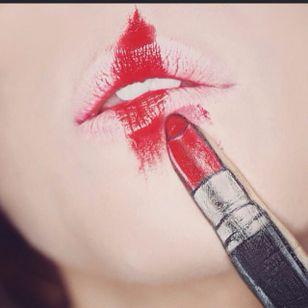 Red Lipstick Lip Art by @Ryankellymua #Lipart #Makeupart #Makeup #Ryankellymua #Red #Lipstick