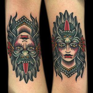 Monster or Woman? by Phil Hatchet (via IG-philhatchetyau) #traditional #ladyheads #color #girlsgirlsgirls #PhilHatchetyau