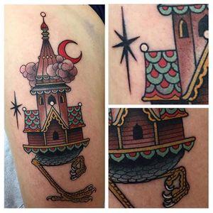 Cool hut tattoo by Black Claw #babayaga #BlackClaw #witch #hut