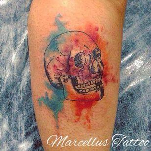 #caveira #skull #MarcellusDias #teologo #aquarela #watercolor #brasil #portugues