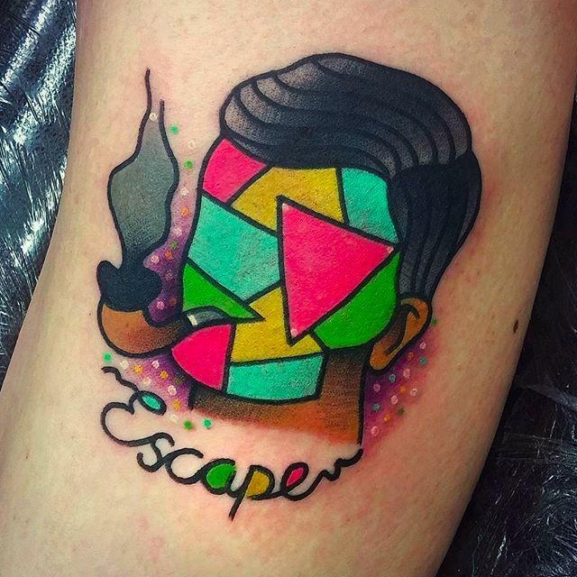 Escape Faceless Tattoo by Joe Fletcher @Wagabalooza #Wagabalooza #JoeFletcher #JoeFletcherTattoo #Neotraditional #Neotraditionaltattoo #HellcatsTattooParlour #UK #Facelesstattoo #Escape