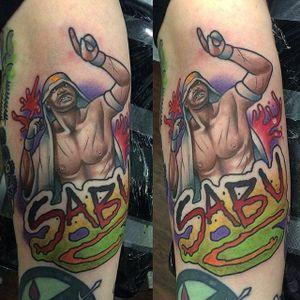 Sabu Tattoo by Tom Connors #WWE #wrestling #Sabu #TomConnors