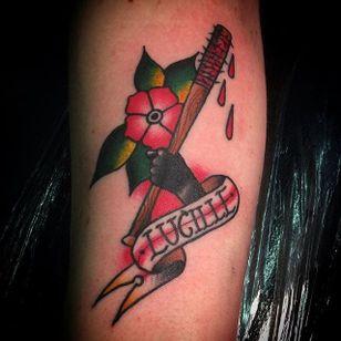 Lucille Tattoo by Izzy Curran #lucille #walkingdead #thewalkingdead #negan #baseballbat #bat #walkingdeadnegan #IzzyCuran