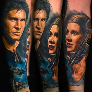Star Wars Tattoo by Nikko Hurtado @NikkoHurtado #NikkoHurtado #Cinematic #Portrait #StarWars