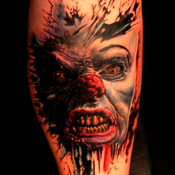 Creeoy painting like Pennywise portrait by Andy Engel #Pennywise #IT #StephenKing #clown #reboot #TimCurry #horror #realism #AndyEngel