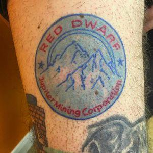 Red Dwarf insignia by Otis Holmes (via IG -- otisholmes) #otisholmes #jupiterminingcorp #reddwarf