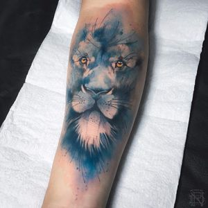 Leão de respeito #DenerSilva #tatuadoresdobrasil #brasil #brazil #brazilianartist #sketch #sketchstyle #watercolor #aquarela #leao #lion #estilorascunho