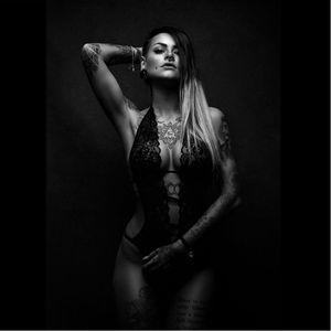 Model Sara Surprisink photographed by Florian Böcking #FlorianBöcking #photography #tattooedmodel #lingerie #SaraSurprisink