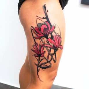 Por Dynoz #DynozArtAttack #gringo #abstract #abstract #colorido #colorful #aquarela #watercolor #flor #flower #botanica #botanical