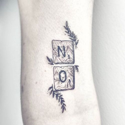 """NO"" tattoo by Ciara Havishya. #samsararat #CiaraHavishya #consent #no #feminist #grlpwr #riotgrrrl #woman #feminism"