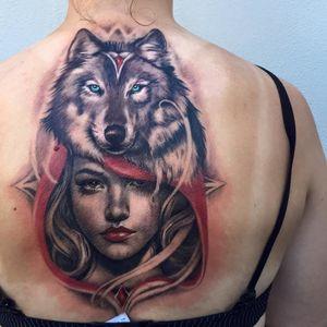 Little Red Riding Hood tattoo #TeneileNapoli #littleredridinghoodtattoos