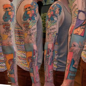 Scott Pilgrim vs. the World tattoo by Tom Caine. #scottpilgrimvstheworld #scottpilgrim #comics #graphicnovel #film #cultfilm #popculture #comicbook