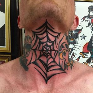 Web Tattoo by Matt Andersson #web #traditional #traditionalartist #oldschool #classic #boldwillhold #MattAndersson