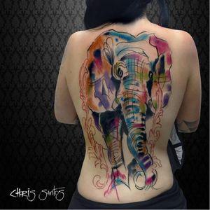 #elefante #elephant #ChrisSantos #TatuadoresDoBrasil #aquarela #watercolor #coloridas #colorful #brasil