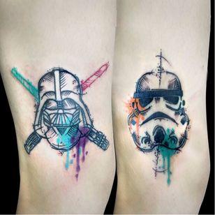 #ChrisSantos #starwars #tatuadoresdobrasil #nerd #geek #filmes #movies #darthvader #stormtrooper #sabredeluz #lightsaber #colorida #colorful #aquarela #watercolor