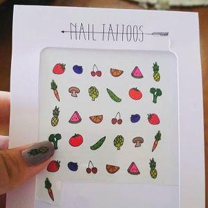 Nail Tattoo Art #NailTattoo #NailArt #NailTattoos #TattooFashion