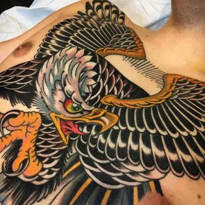 Eagle by Griffen Gurzi (via IG-griffengurzi) #traditional #bold #color #griffengurzi