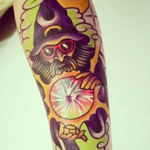 Wizard sleeve by Ryan One (via IG -- jasmine_mccartney) #ryanone #wizard #sleeve #wizardsleeve #wizardsleevetattoo