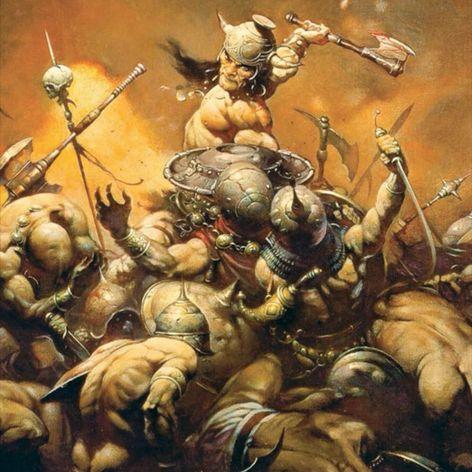 """Conan the Destroyer"" by Frank Franzetta. #Conan #fineart #FrankFranzetta"