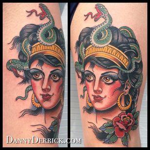 Medusa. (via IG - dannyderrick) #DannyDerrick #Traditional #TraditionalLady