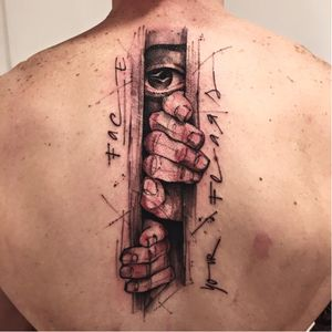 Fearless tattoo by Victor Montaghini #VictorMontaghini #graphic #watercolor #sketch