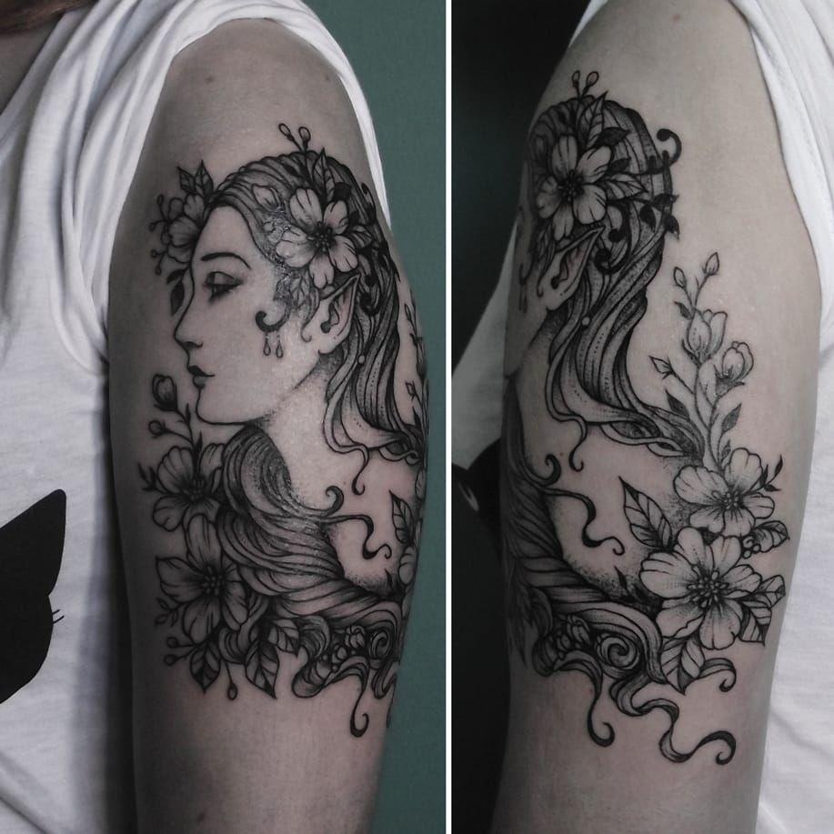 Elfa por Caroline Jamhour! #CarolineJamhour #TatuadorasBrasileiras #TatuadorasdoBrasil #TattooBR #TattoodoBr #elfa