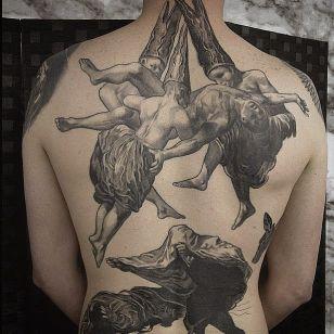 Goya inspired tattoo by Renaud Delmaire #fineartists #RenaudDelmaire #goya #painter #painting #fineart #masterpiece #art #museum