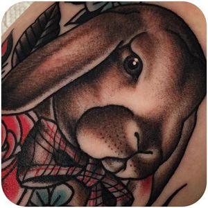 Easter vibes @beccagennebacon #tattoodo #easter #easterbunny #happyeaster #bunny #rabbit #bowtie #beccagennebacon