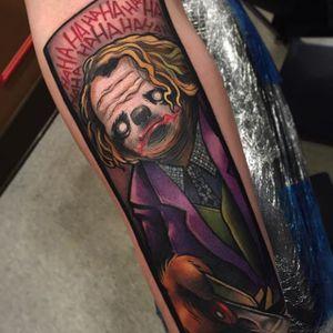 Joker Sloth Tattoo by Eddie Stacey #sloth #slothtattoo #slothtattoos #slothdesign #funtattoos #EddieStacey
