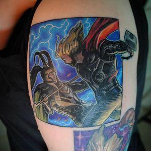 Thor Tattoo by Troy Slack #superhero #Marvel #Thor #superhero #TroySlack