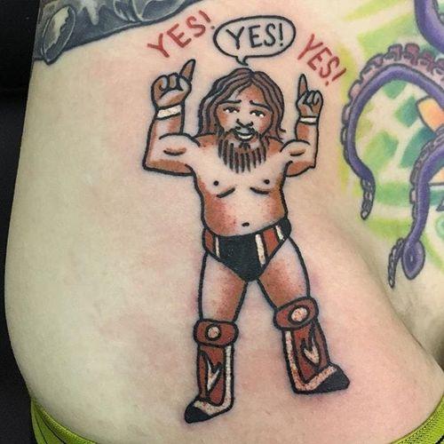 Daniel Bryan Tattoo by Pete Larkin #WWE #wrestling #PeteLarkin