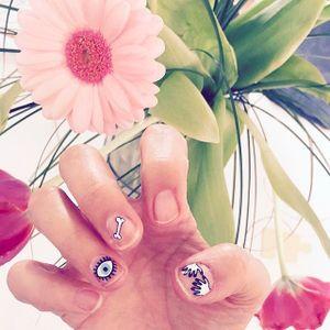 Cute little Nail Tattoos  #NailTattoo #NailArt #NailTattoos #TattooFashion