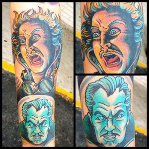 Vincent Price Tattoo by James Clements #VincentPrice #VincentPriceTattoos #ActorTattoos #HollywoodTattoos #ClassicActor #JamesClements #hollywood
