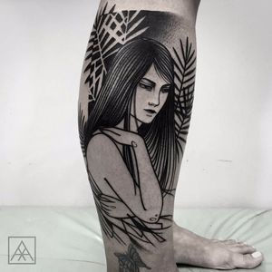 Mulher por Maxwell Alves! #MaxwellAlves #Blackwork #tatuadoresbrasileiros #mulher #girl #girltattoo