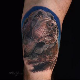 Pet portrait by Phil Garcia (via IG- @philgarcia805) #philgarcia #photorealism #realism #realistictattoo #petportrait