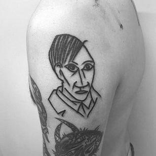 Picasso portrait by Steven Donohue (via IG -- learntohate81) #stevendonohue #portrait #picasso
