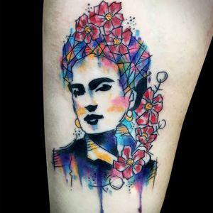 #fridakahlo #ChrisSantos #TatuadoresDoBrasil #aquarela #watercolor #coloridas #colorful #brasil
