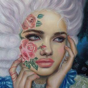 """Anne"" via @relmxx #Relm #ARTSHARE #painting #fineartist"