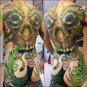 In Progress Back Tattoo by Steve Moore #back #backtattoo #backpiece #largetattoos #bigtattoos #SteveMoore